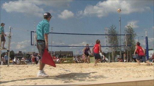 Beach volleyball in Glasgow