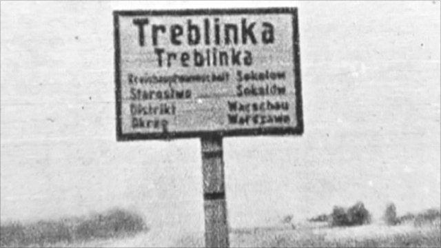 Sign for Treblinka