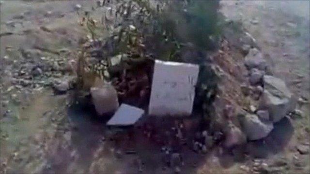Newly-dug grave
