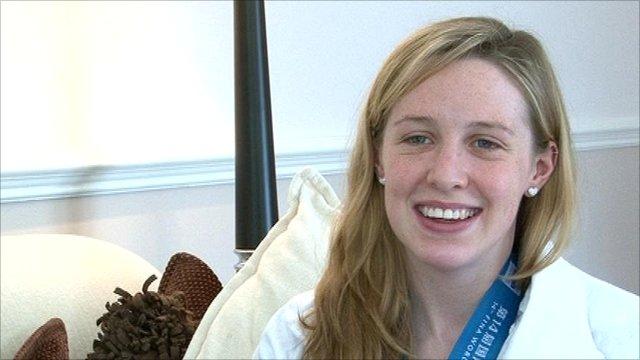 Scottish swimmer Hannah Miley