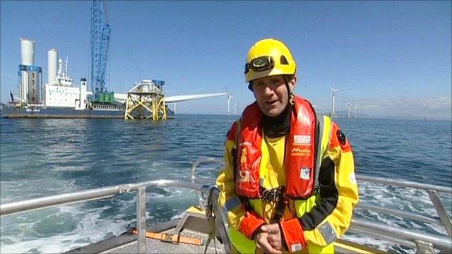 David Shukman and a sea jack