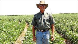 Cotton farmer Glenn Schur