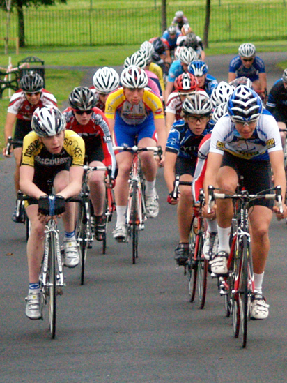 Cyclists in Bellahouston Park