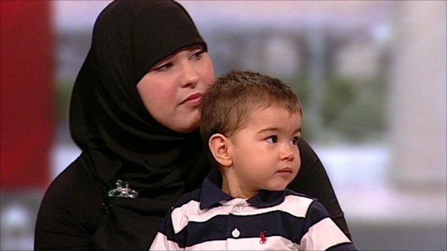 Leila Khan and her son Musa Imran