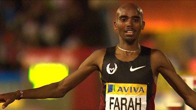 GB's Mo Farah wins 3000m at London Diamond League