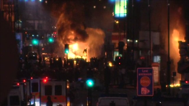 Fires in Tottenham
