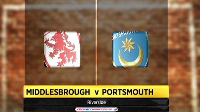 Middlesbrough 2-2 Portsmouth