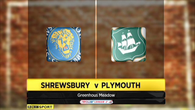 Shrewsbury 1-1 Plymouth