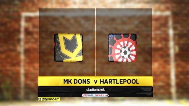 MK Dons 2-2 Hartlepool