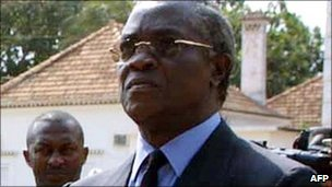 Sao Tome and Principe's newly elected President Manuel Pinto Da Costa - Archive photo from 2001