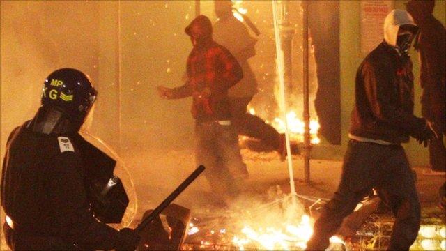 Rioting in Tottenham on 7 August