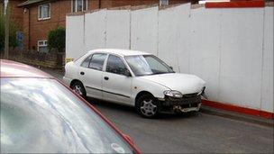 Cars damaged in Pym Street, St Ann's