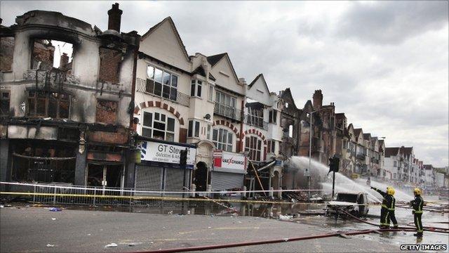 Destruction in Croydon
