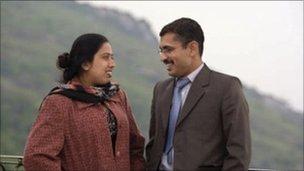 Asim Ashraf and his wife