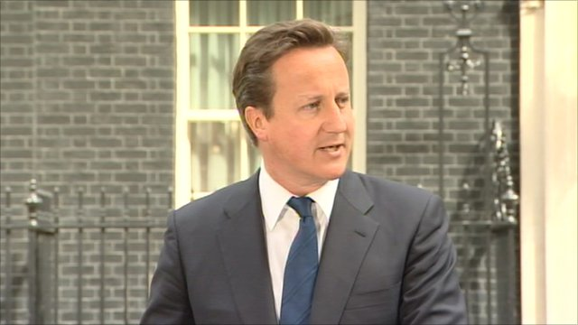 Prime Minister David Cameron outside Downing Street