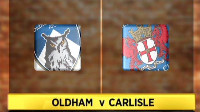 Oldham 1-1 Carlisle (2-4 pens)