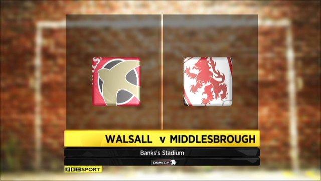 Walsall v Middlesbrough