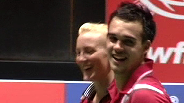 GB mixed doubles pair Imogen Bankier and Chris Adcock
