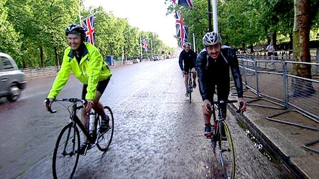 BBC Sport's Matt Slater (left) with Chris Boardman