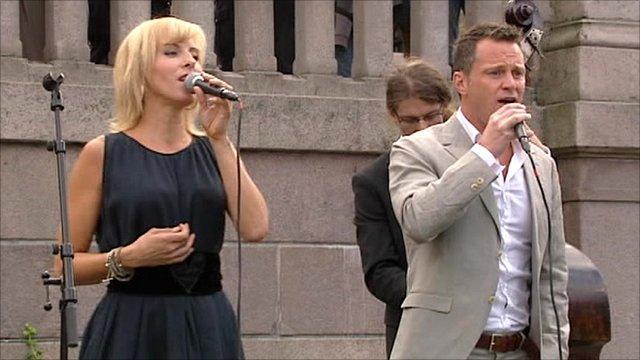 Singers performing in Norway