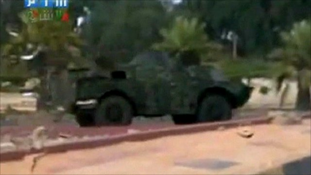 Footage said to show security forces in Latakia