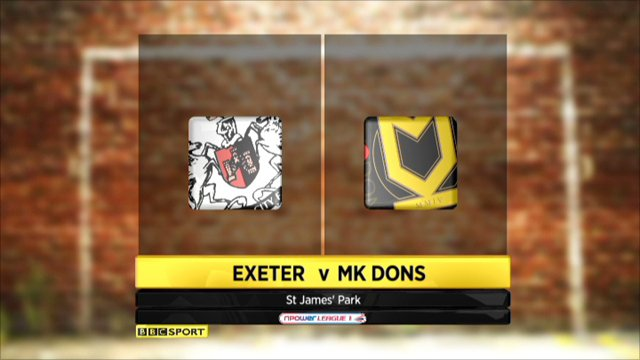 Exeter 0-2 MK Dons
