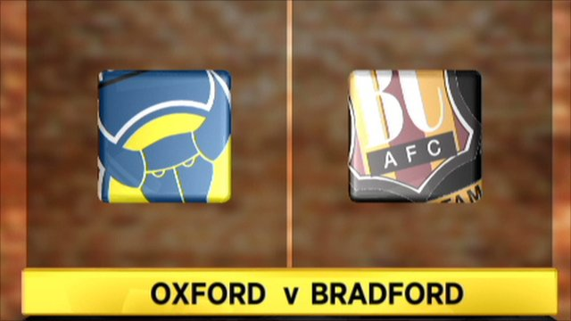 Oxford Utd 1-1 Bradford