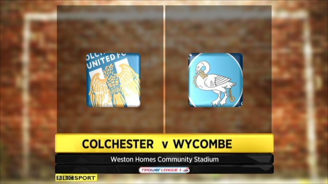 Colchester 1-1 Wycombe