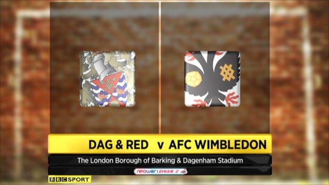 Dag & Red 0-2 AFC Wimbledon