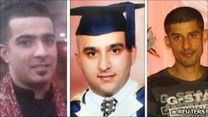 (From left) Haroon Jahan, Shazad Ali and Abdul Musavir