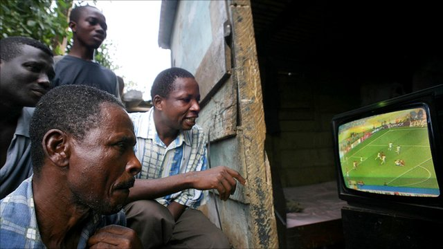 Watching television in Ghana