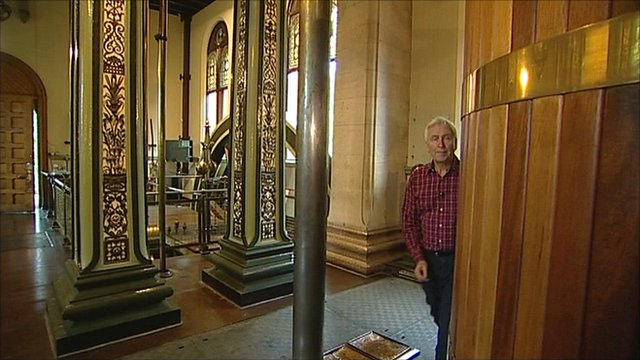 John Holmes walks around Papplewick Pumping Station