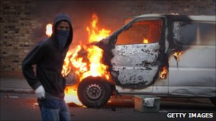 Rioter in Hackney