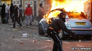 Rioters in London