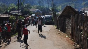 Children playing on a street in rural Madagascar (archive shot)