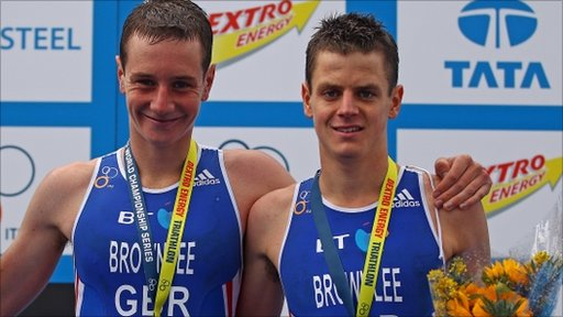 Triathlon stars Alistair and Jonathan Brownlee