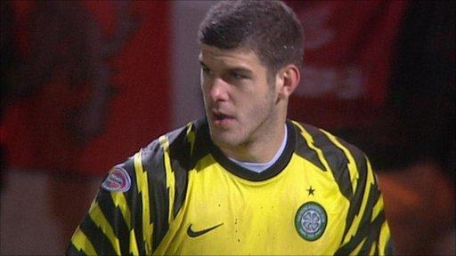 Fraser Forster in action for Celtic last season