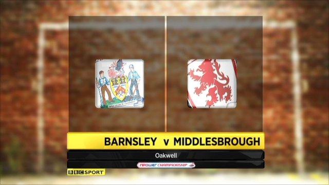 Barnsley 1-3 Middlesbrough