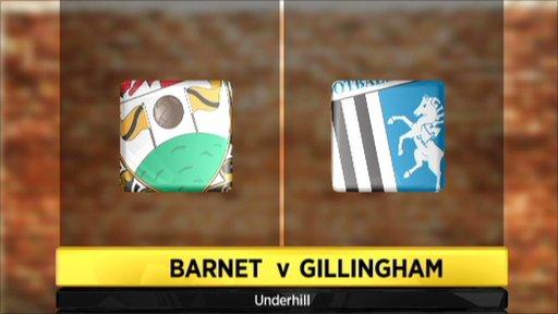 Barnet 2-2 Gillingham