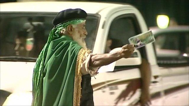 Gadaffi supporter in Tripoli