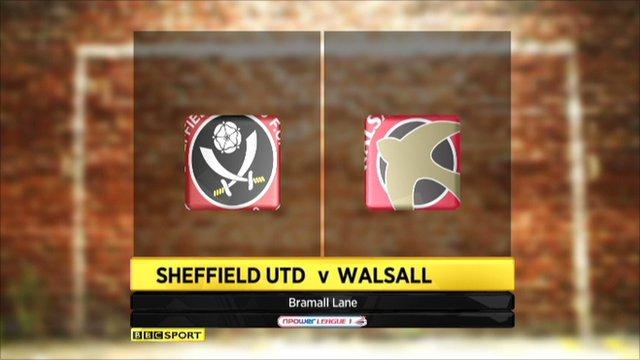 Sheff Utd 3-2 Walsall