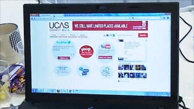 Ucas computer screen