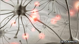 Artist impression of neurons connecting