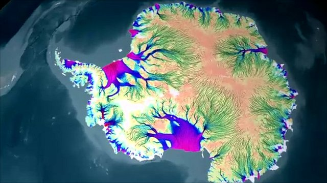 New map show ice sheets on the move