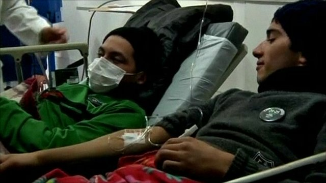 Students in hunger strike