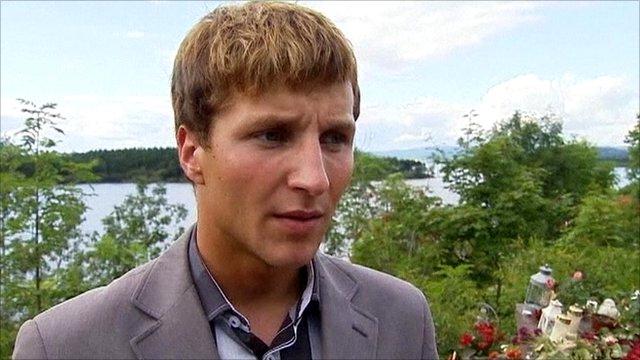 A survivor of the Norway attacks, Adrian Pracon