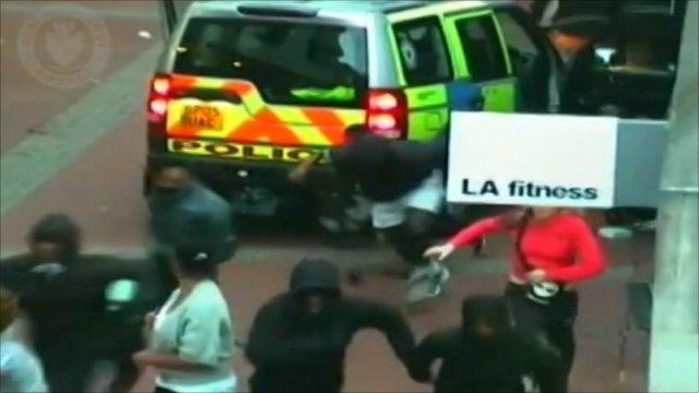 Police arrive at the scene