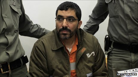 Dirar Abu Sisi attends a court session in Israel in April 2011