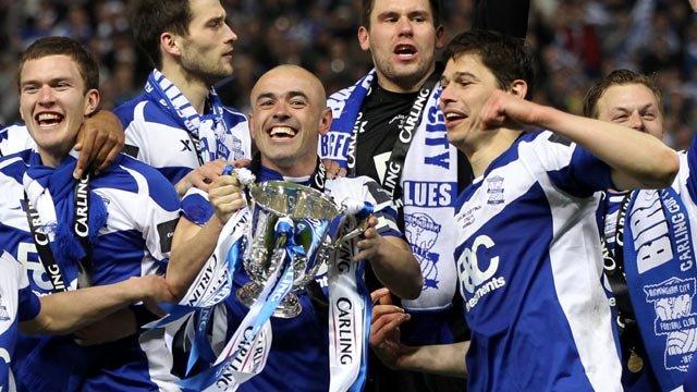 Birmingham celebrate winning last season's Carling Cup