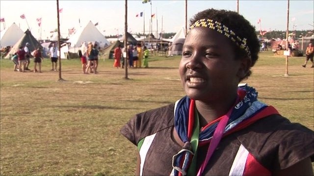 An scout from Kenya